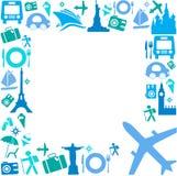 Capítulo con los iconos del recorrido Imagenes de archivo