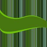Capítulo con un fondo de rayas en sombras del verde stock de ilustración