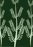 Capítulo con verde del helecho Stock de ilustración
