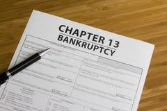 Capítulo 13 da falência Imagem de Stock