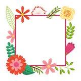Capítulo de diseño de la plantilla de la tarjeta de felicitación de las flores salvajes Fotografía de archivo libre de regalías