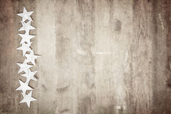 Capítulo de estrellas en la madera fotografía de archivo