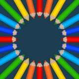 Capítulo de lápices coloreados Imagen de archivo