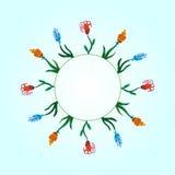 Capítulo de las flores de la acuarela Imagen de archivo