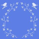 Capítulo de las ramas de árbol con los pájaros stock de ilustración