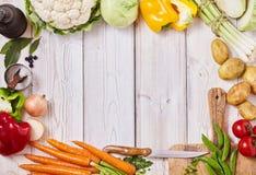 Capítulo de las verduras frescas sanas de la granja foto de archivo libre de regalías