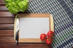 Capítulo de los accesorios de la cocina para el menú Imágenes de archivo libres de regalías