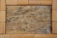 Capítulo de tableros rectangulares de madera fotografía de archivo
