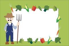 Capítulo del mercado de los granjeros con el espacio de la copia Imagen de archivo libre de regalías