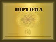 Capítulo del oro del diploma Imagen de archivo libre de regalías