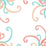 Capítulo del vector de los rizos colorido Fotografía de archivo