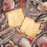Capítulo en la arena de la playa Fotografía de archivo libre de regalías