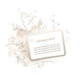 Capítulo floral de Grunge para el texto Foto de archivo