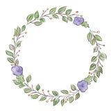Capítulo, guirnalda, adornos de la planta Fotos de archivo libres de regalías