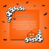 Capítulo Halloween con los balones de fútbol ilustración del vector