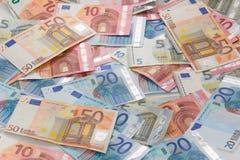 Capítulo llenado de las notas euro Foto de archivo libre de regalías