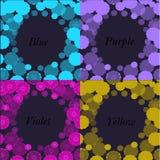 Capítulo los colores modelados de la lila, de la púrpura, amarillos y azules Imagen de archivo libre de regalías