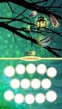 Capítulo Niño Luciérnagas y una linterna en un árbol libre illustration