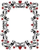 Capítulo o frontera 3D de la tarjeta del día de San Valentín Foto de archivo