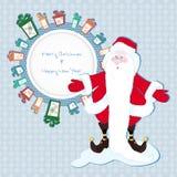 Capítulo para el texto en los regalos con Santa Claus Imagen de archivo libre de regalías