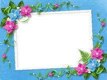 Capítulo para la foto con las orquídeas rosadas Imagen de archivo libre de regalías