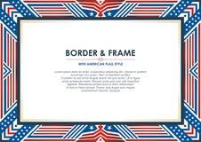 Capítulo patriótico, con estilo de la bandera americana y diseño del color stock de ilustración