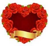 Capítulo rojo de Rose en la dimensión de una variable del corazón Imagen de archivo libre de regalías