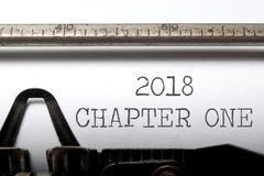 capítulo 2018 uno fotos de archivo
