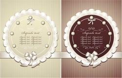 Capítulos con el arqueamiento de las perlas en estilo retro Imagen de archivo libre de regalías