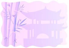 Capítulos con el bambú Foto de archivo libre de regalías