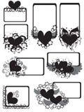 Capítulos con los corazones, CMYK Imagen de archivo libre de regalías