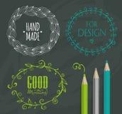 Capítulos del garabato y elementos del diseño Imagen de archivo libre de regalías