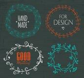 Capítulos del garabato y elementos del diseño Fotografía de archivo libre de regalías