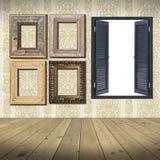 Capítulos y espacio en blanco de la ventana Fotografía de archivo
