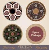 Capítulos y fronteras del círculo del vintage. ilustración del vector