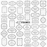 Capítulos y sistema mega de las fronteras aislado en blanco Fotos de archivo