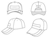 Cap. Outline cap  illustration isolated on white. EPS8 file available Stock Photo