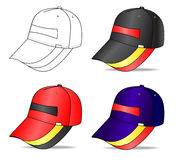 Cap. Outline cap  illustration isolated on white. EPS8 file available Stock Photography