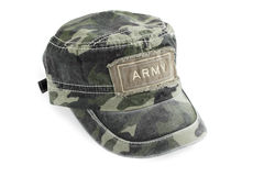Cap. The army cap of the shielding color Stock Photos