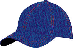 Cap. The  image of a sports headdress from a jeans fabric Royalty Free Stock Photos