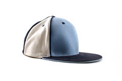 Cap. A blue and white hip-hop cap Royalty Free Stock Photography