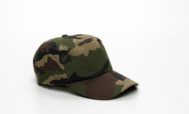Cap. Camouflage cap isolated on a white background Stock Image