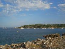Cap Antibes de littoral Photo libre de droits