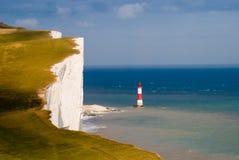 Cap Bévésiers de l'azur de dessus de falaise Image stock