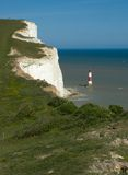 Cap Bévésiers. Eastbourne. l'Angleterre Photo stock