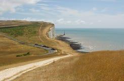 Cap Bévésiers, le Sussex, Angleterre images libres de droits