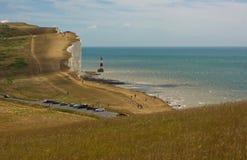 Cap Bévésiers, le Sussex, Angleterre photographie stock libre de droits