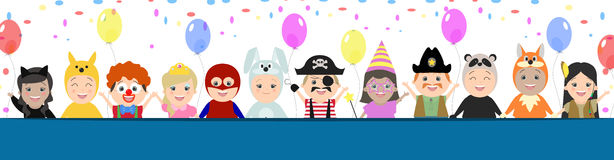 Cap background for a festive design. Children in carnival costum Royalty Free Stock Image