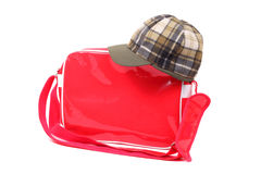 Cap and bag Stock Image
