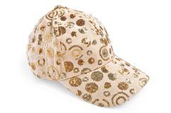 Cap beige patterned Royalty Free Stock Photo